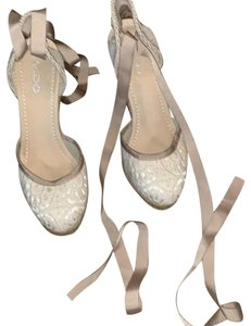 ALDO cream and natural weave on wedge Wedges