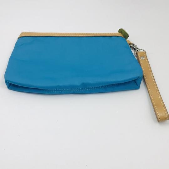 Sydney Love Faux Leather Nylon Wristlet in Blue
