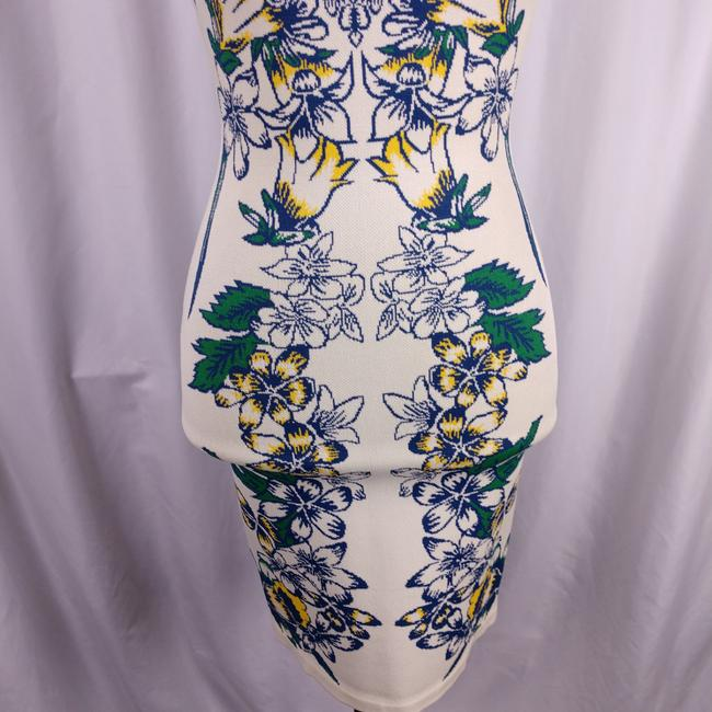 BCBGMAXAZRIA Bodycon Fitted Stretchy Floral Dress