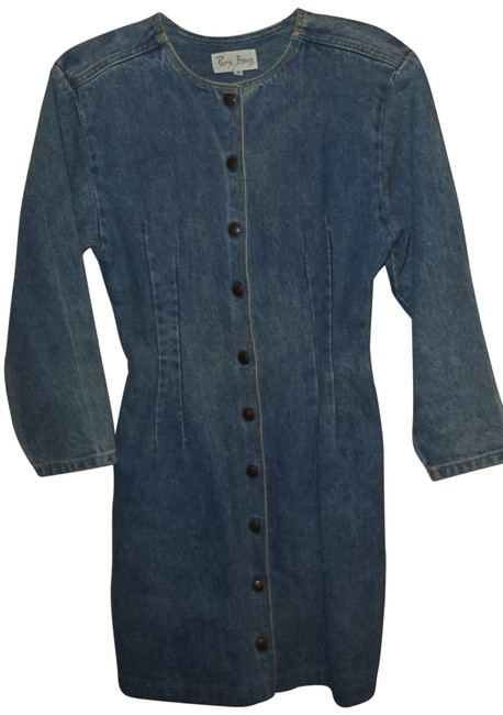 Paris Blues short dress Blue Vintage Fitted Mini Jean on Tradesy