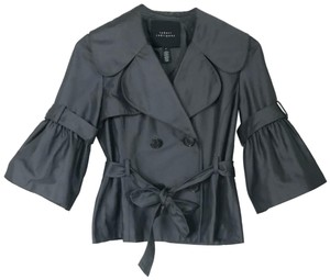 Robert Rodriguez Belted Lined Double Breasted. gray Blazer