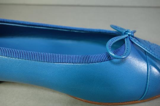 Chanel Bright Blue Flats