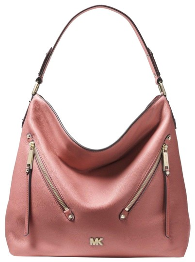 Preload https://img-static.tradesy.com/item/24602892/michael-kors-evie-large-double-zipper-rosegold-leather-shoulder-bag-0-1-540-540.jpg