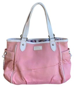 Burberry Blue Label Canvas Tote in Pink, White