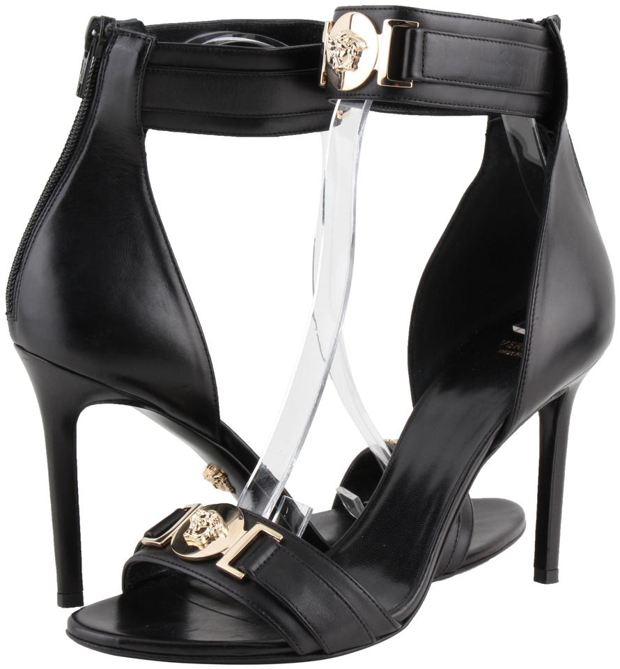7de23e62043f Versace Black Gianni Medusa High Heel Sandals Size US 7 Regular (M ...