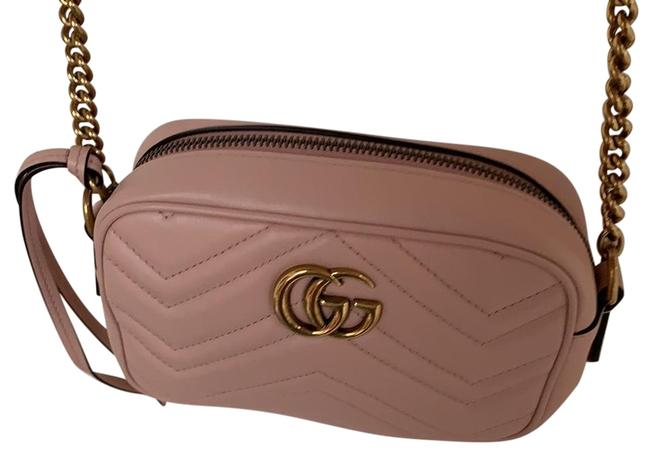 Item - Camera Marmont Pale Pink Lambskin Leather Cross Body Bag