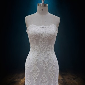 Others Follow Lace Mermaid with Scalloped Lace Neckline Modern Wedding Dress Size 10 (M)