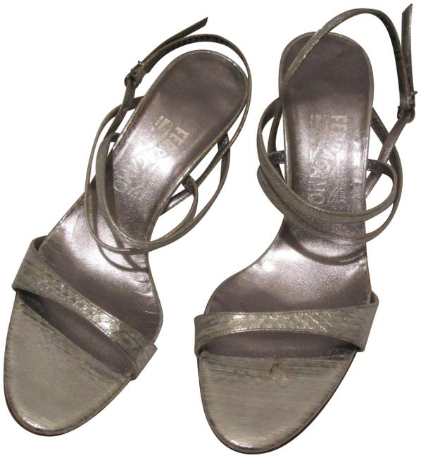 Item - Silver Strappy Sandals Size US 9 Narrow (Aa, N)