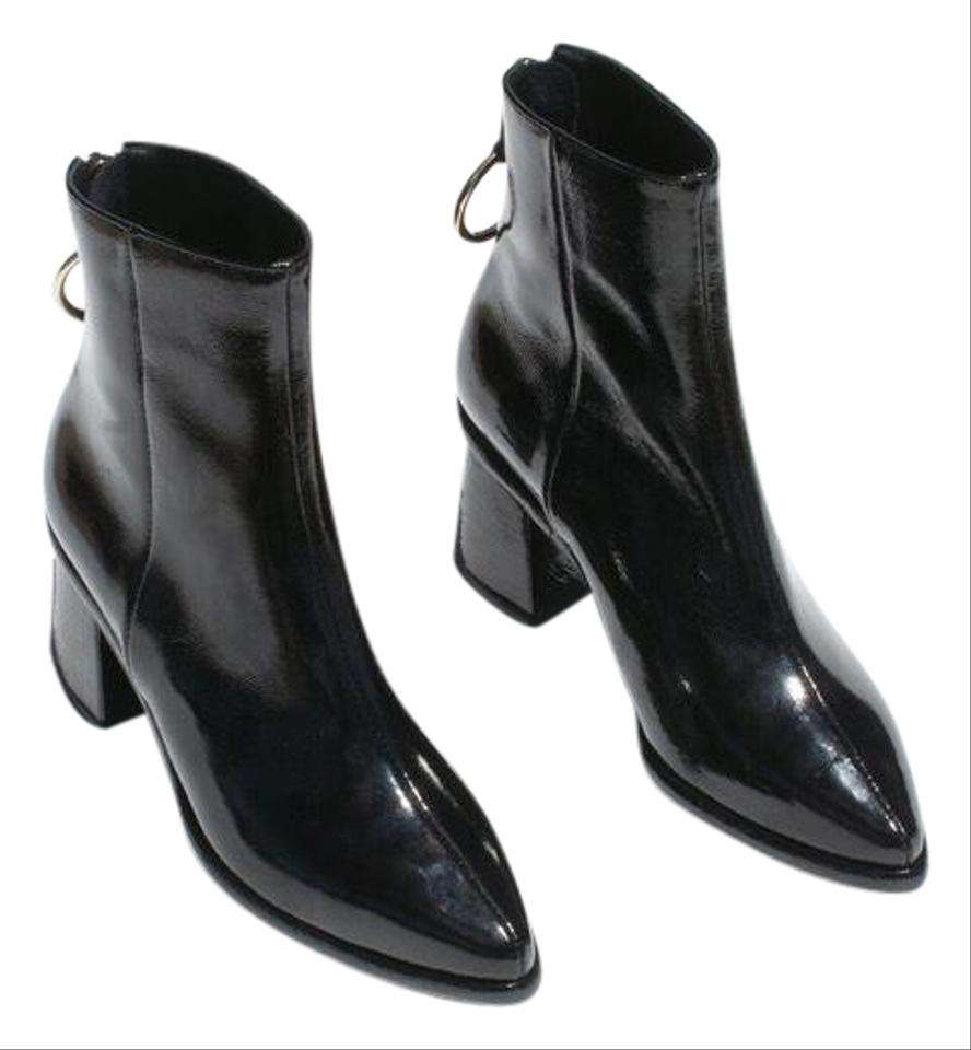 49cf1cb9c49 Reike Nen Black Patent Leather Boots/Booties Size EU 37 (Approx. US ...