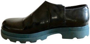 Camper Leather Blue Sole Black Boots