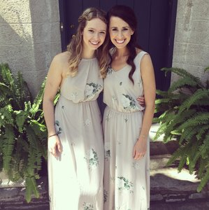 261e5f5aee23 Show Me Your Mumu Taupe with White and Green Floral Pattern Chiffon Kendall  Maxi Bouquet Toss