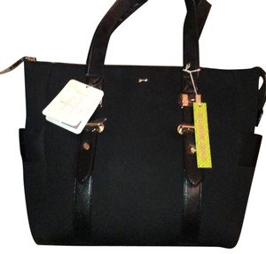 Gianni Bini Tote in Black with gold accents
