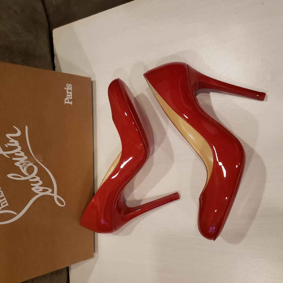 b1c5c1a2f7c Christian Louboutin Flamenco Red Fifille 100 Patent Leather Round Toe Pumps  Size EU 37 (Approx. US 7) Regular (M, B) 12% off retail