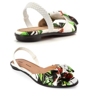 Proenza Schouler white, green Sandals