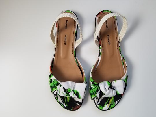 Proenza Schouler white, green Sandals Image 2