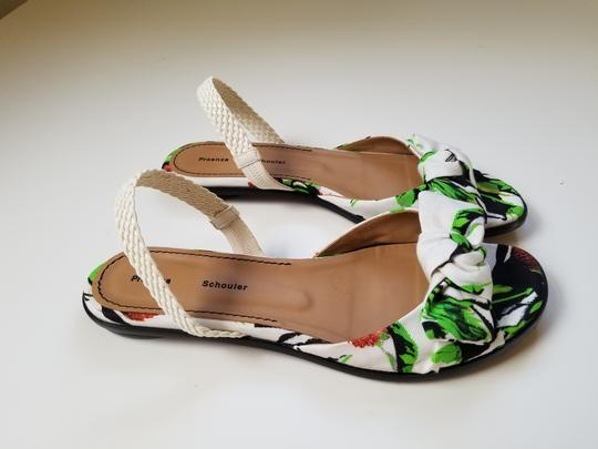 Proenza Schouler white, green Sandals Image 5