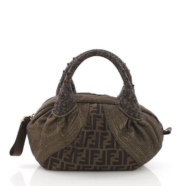 Item - Spy Zucca Canvas and Baby Brown Leather Tote