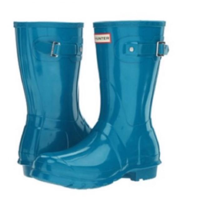 Hunter Ocean Blue Boots/Booties Size US 6 Regular (M, B) Hunter Ocean Blue Boots/Booties Size US 6 Regular (M, B) Image 1