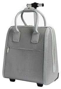 6ad67a5ca Ted Baker Polyester Carry On Suitcase Crocodile Embossed Reflective Silver  Travel Bag