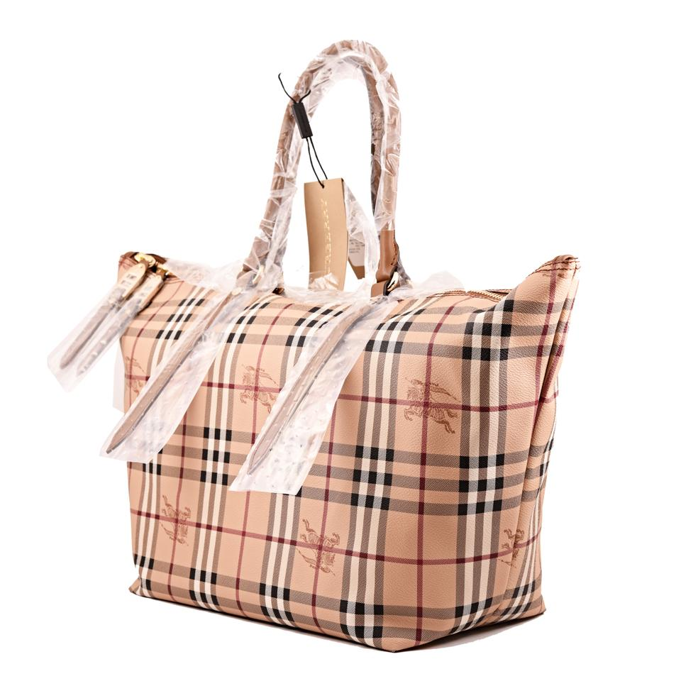 5626962deff9 Burberry Medium Salisbury Mid Camel Haymarket Check Leather Tote - Tradesy