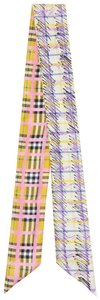 Burberry Burberry Tag Nova Check Scribble Print reversible slim scarf
