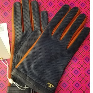 Tory Burch Perforated leather gloves