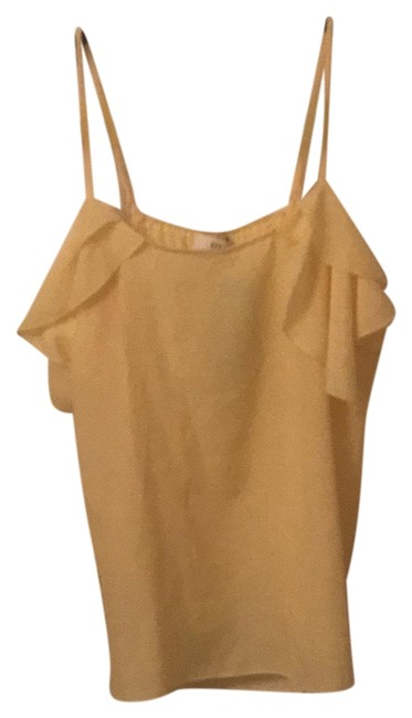 Item - Pale Yellow Napean Sea Road Camille Ruffle Sleeve Blouse Size 4 (S)
