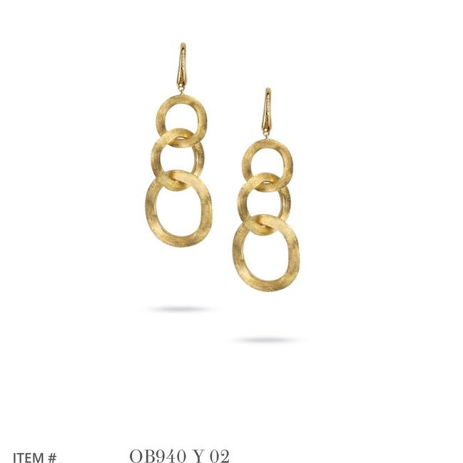 Item - Yellow Gold Jaipur Link French Wire Drop Earrings