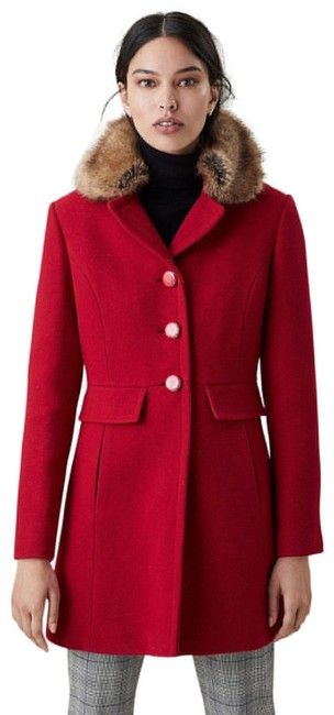 Item - Red New York Faux Collar Fit and Flare Jacket K28775 Coat Size 10 (M)