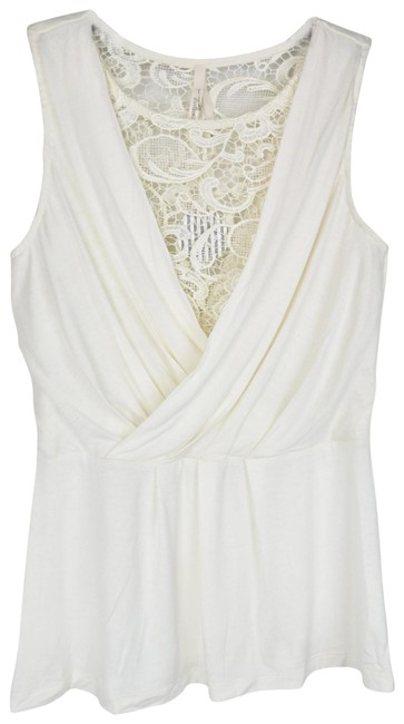 Item - White Lace Grecian Babydoll Shirt Tank Top/Cami Size 6 (S)