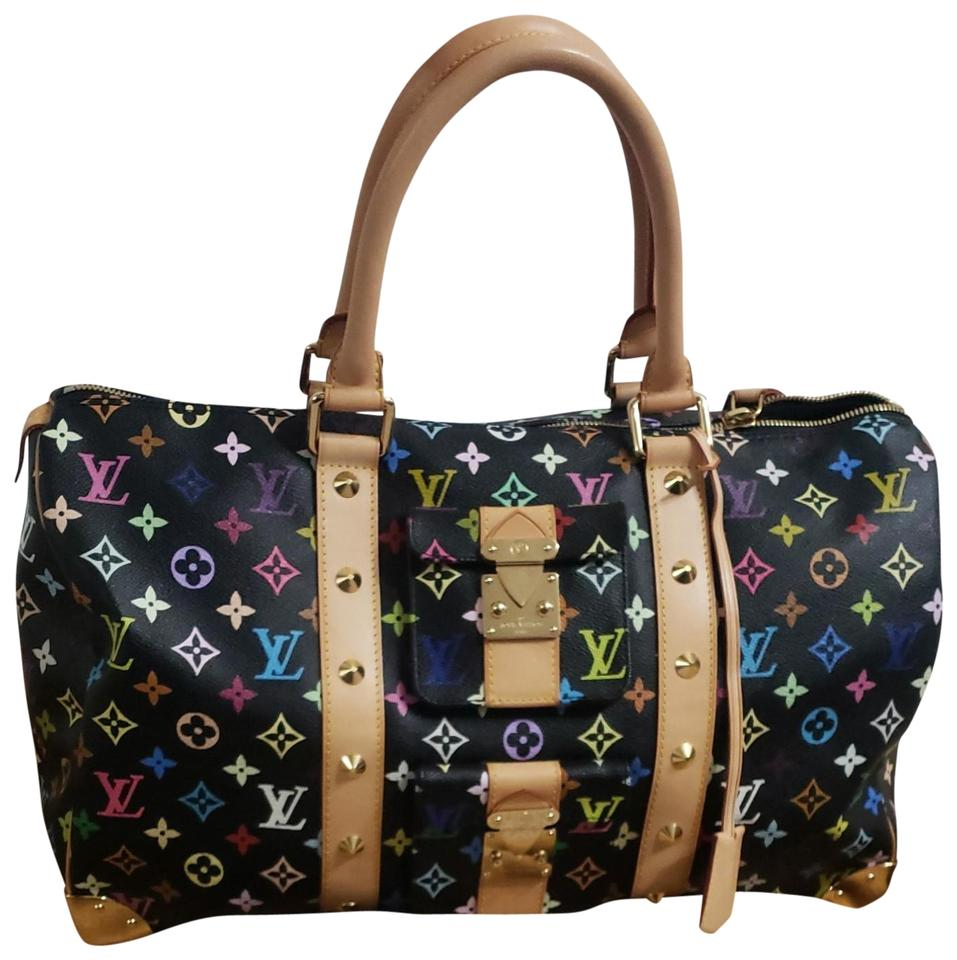 319503475bd Louis Vuitton Limited Edition Murakami Keepall Multi Color Travel Bag Image  0 ...