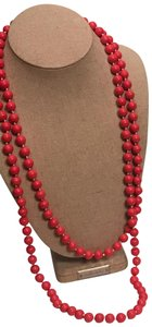 Stella & Dot La Coco Layering Red Bead Necklace