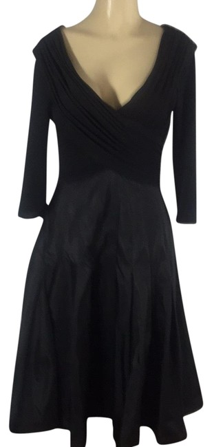 Item - Black Sexy Mid-length Cocktail Dress Size 10 (M)