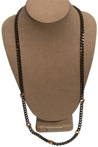 Stella & Dot Hematite Link Chain Necklace