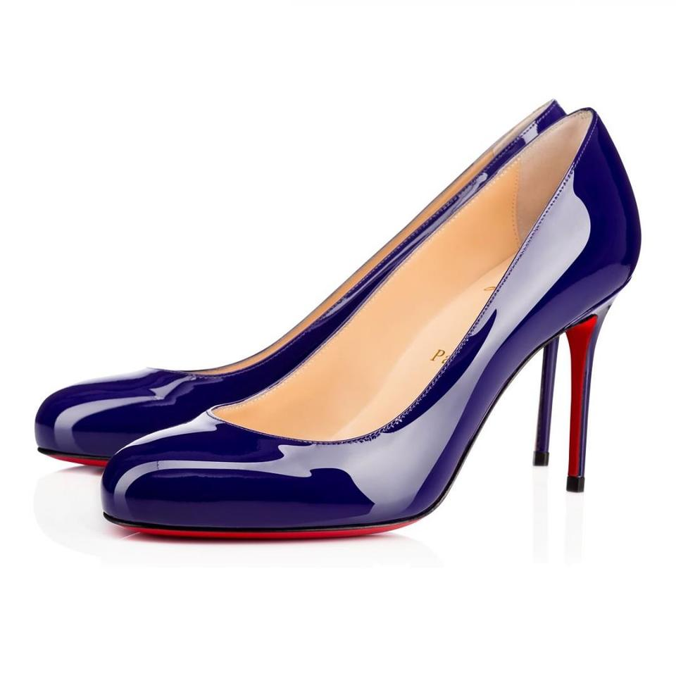 new concept 1575a abf2a Christian Louboutin Purple Fifi 85 Encre Patent Calf Leather Classic  Stiletto Heel Pumps Size EU 38 (Approx. US 8) Regular (M, B)