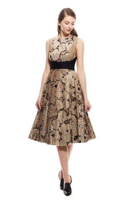 Preload https://img-static.tradesy.com/item/24604863/lela-rose-gold-juliet-metallic-tinsel-jacquard-a-line-mid-length-formal-dress-size-10-m-0-0-650-650.jpg