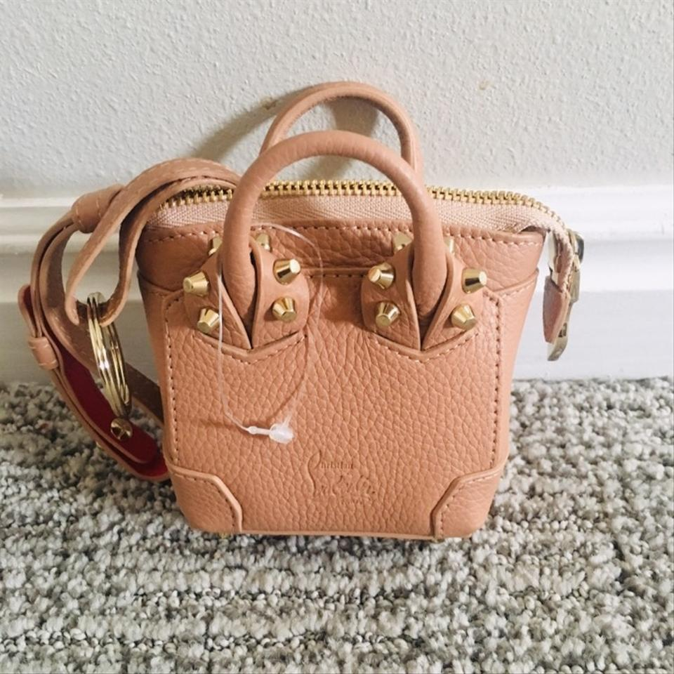 120365829c1 Christian Louboutin Nude/ Gold Eloise Mini Leather Bag Charm Wallet