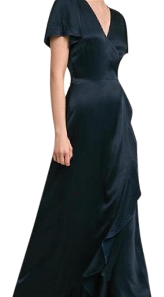 Ghost Navy Blue Phoebe Long Formal Dress