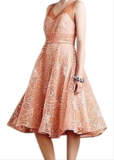 Item - Orange Cream Moulinette Souers Mid-length Night Out Dress Size 8 (M)