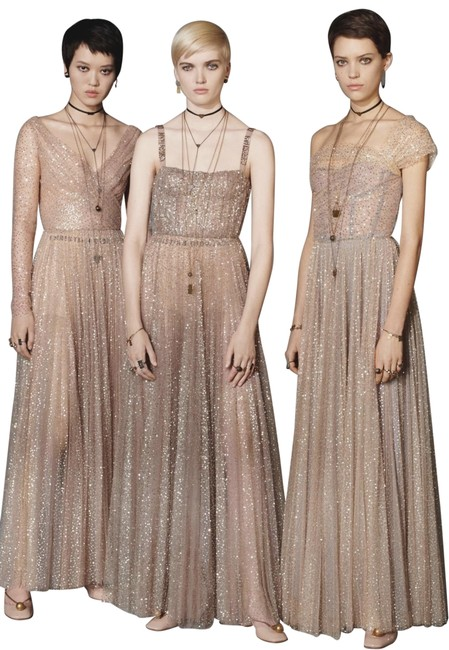Dior Beige - Golden Strapless Long Night Out Dress Size 4 (S) Dior Beige - Golden Strapless Long Night Out Dress Size 4 (S) Image 1