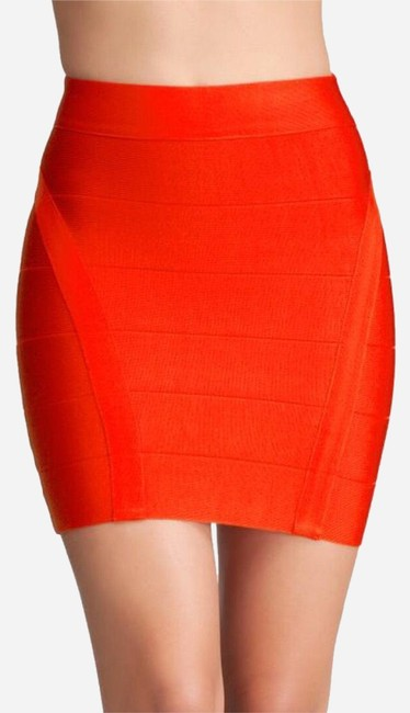 Item - Red Bandage High Waisted Herve Leger Skirt Size 6 (S, 28)