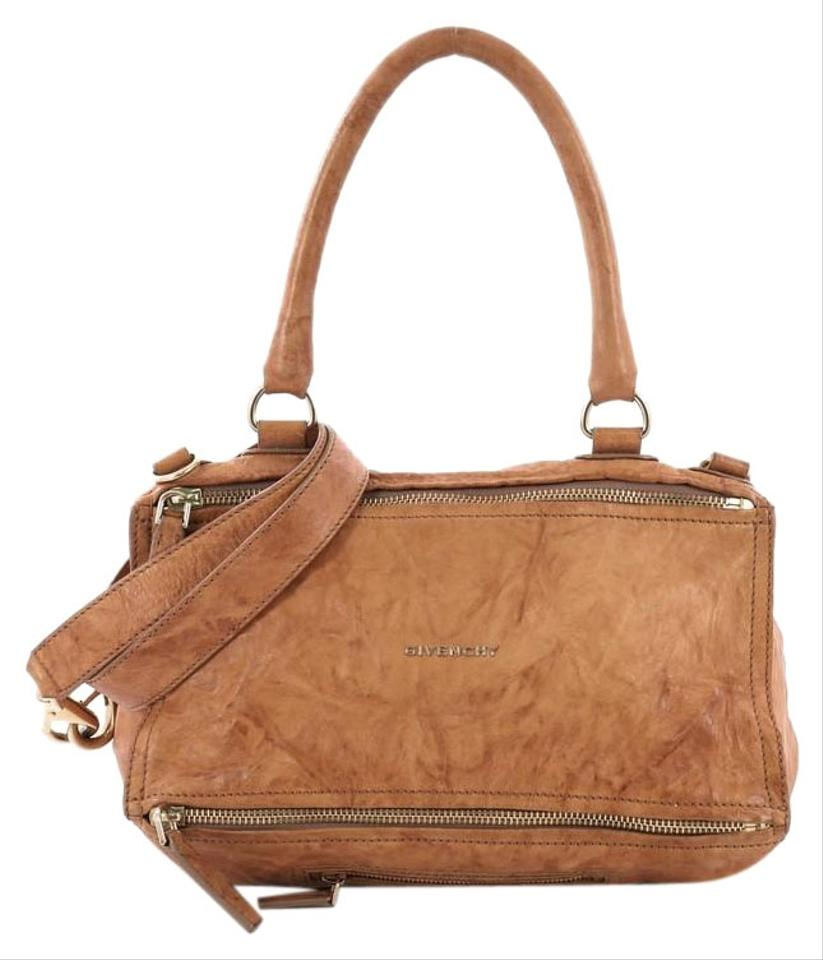 1479211d71 Givenchy Pandora Distressed Medium Light Brown Leather Shoulder Bag ...