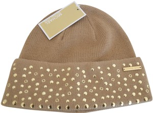 1458ed64bd7 Michael Kors NWT MICHAEL KORS STUDDED BEANIE WINTER HAT CAMEL ONE SIZE -  item med img