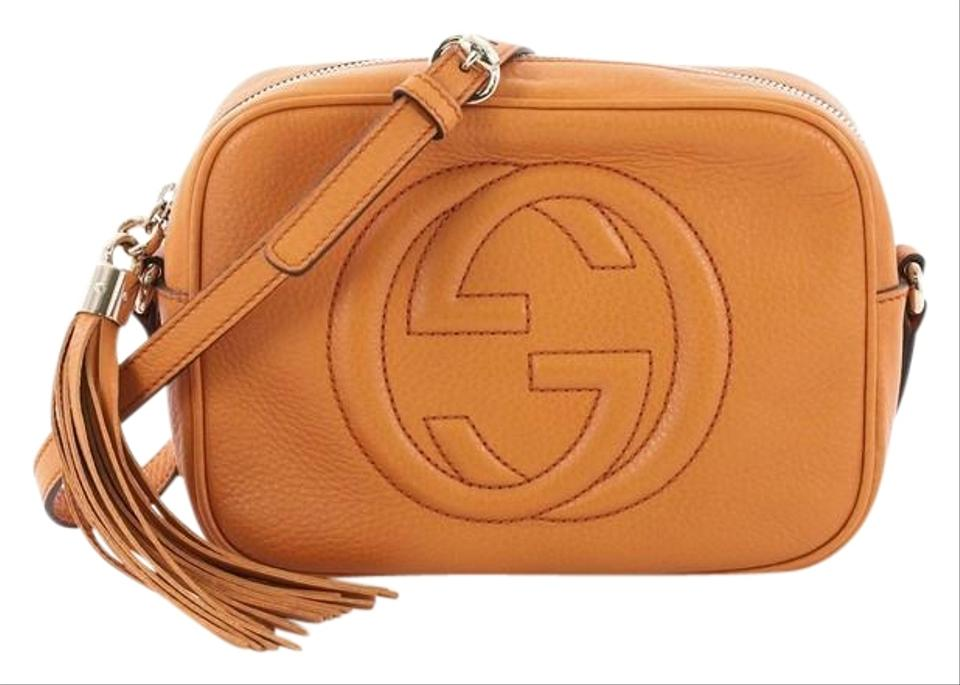 ffd59286f9360a Gucci Soho Disco Small Orange Leather Cross Body Bag - Tradesy