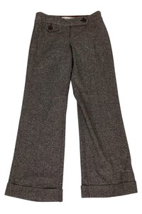 Trina Turk Tweed Wide Leg Trouser Pants Brown