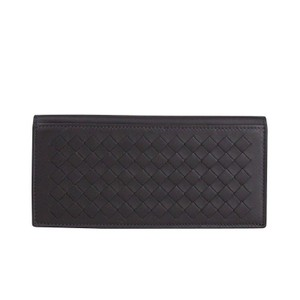 Bottega Veneta Dark Plum Intercciaco Woven Leather Wallet 390877 6017 (One Size) Groomsman Gift