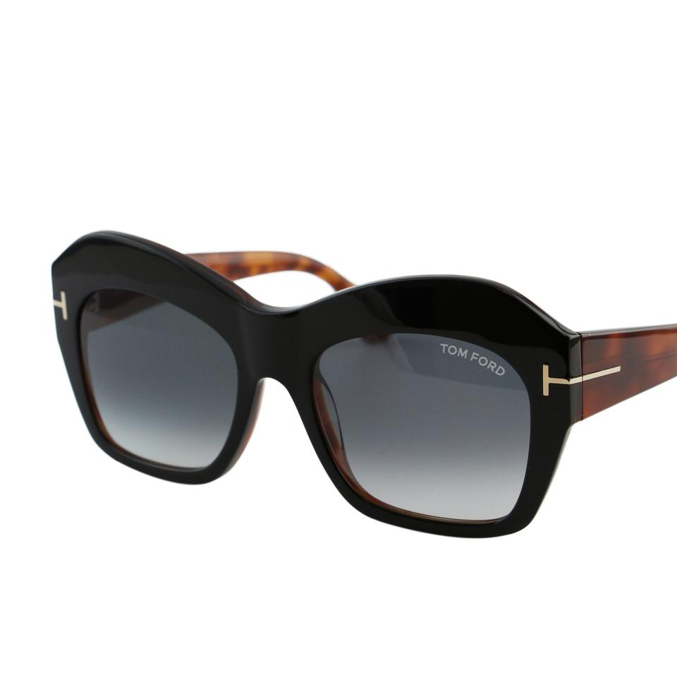 8cd3d971075bd Tom Ford Black   Brown New Tf Emmanuelle Ft-0534 Women Square Thick ...