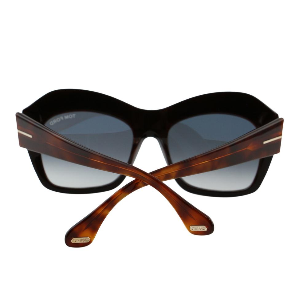 55cbd1ba5a6 Tom Ford Black   Brown New Tf Emmanuelle Ft-0534 Women Square Thick ...