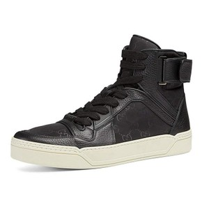 Gucci Black Nylon Guccissima High-top Sneaker (Nero) 409766 (9 G / 10 Us) Shoes