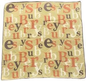 Burberry burberry scrambled letters scarf